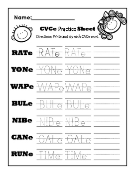 CVCe Practice Sheet Super Pack!