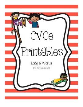 CVCe Printables - Long a