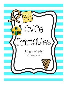 CVCe Printables - Long o