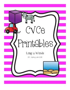 CVCe Printables - Long u