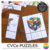 CVCe Puzzle Word Cards