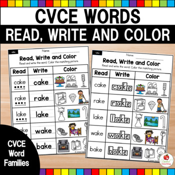 CVCe Read and Match No Prep Packet