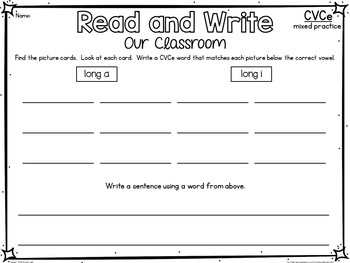 CVCe Read and Write the Room