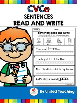 CVCe: Read and Write Sentences with CVCe Words No Prep Packet
