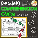CVCe: Reading Comprehension with bingo dabbers (NO PREP)