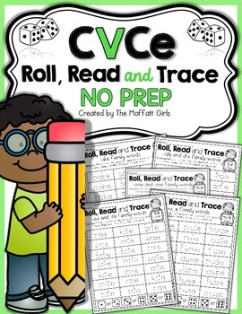 CVCe Roll, Read and Trace! NO PREP