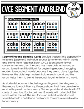 CVCe Segmenting and Blending Cards