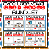 CVCE Words and Pictures Clip Cards Bundle Magic E Activities