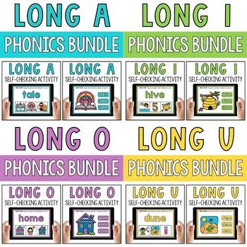 CVCe Long Vowels Silent E Digital Activities Google PPT Boom Cards BUNDLE
