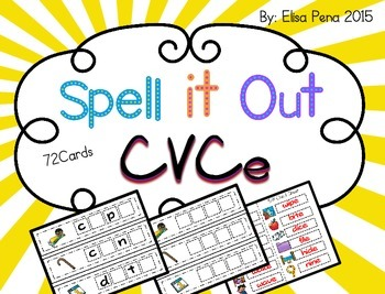 CVCe: Spell it Out Activity Cards