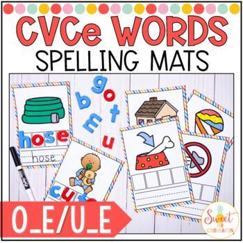 CVCe Spelling Cards- Long o_e and u_e