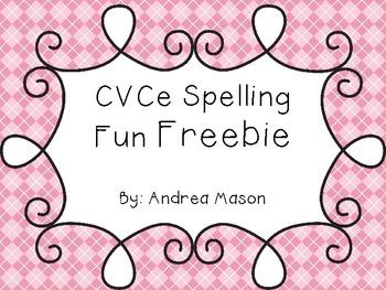 CVCe Spelling Fun Freebie!