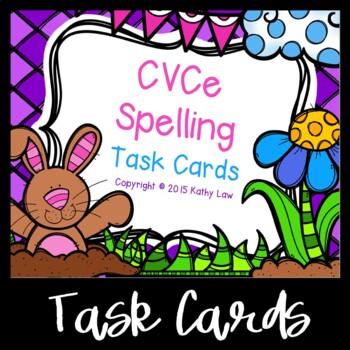 CVCe Spelling Task Cards