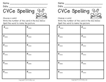 CVCe Spelling Task Cards by Kathy Law | Teachers Pay Teachers