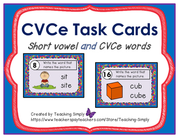 CVCe Task Cards