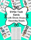 CVCe Task Cards With Elkonin Boxes