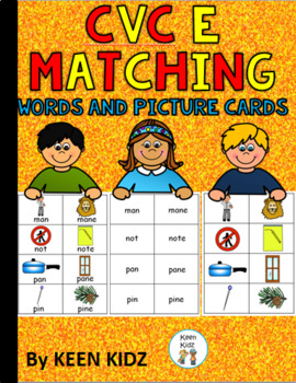 CVCe WORD AND PICTURE CARDS/MATCHING