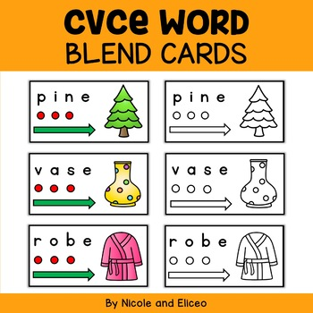 CVCe Word Blend Cards
