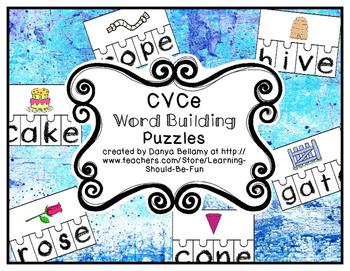 CVCe Word Building Puzzles