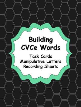 CVCe Word Building Task Cards Activity