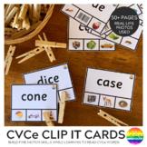 CVCe Word Clip Cards
