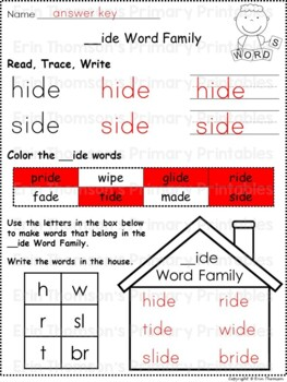 Daily 5 Word Work - CVCe Word Families