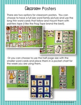 CVCe Word Families Galore Bundle-12 Weeks of Differentiated Word Work