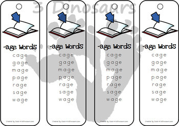 CVCe Word Family Bookmarks