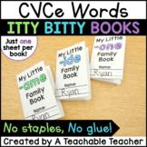 CVCe Word Family Books {Itty Bitty Books}