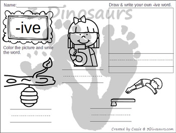 CVCe Word Family Coloring Pages