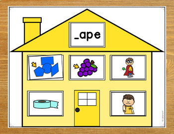 Word Family Houses - Long a Centers!