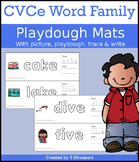 CVCe Word Family Playdough Mats with Pictures