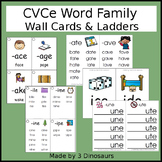 CVCe Word Family Wall Cards & Ladders