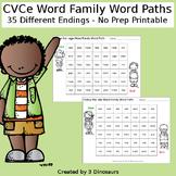 CVCe Word Family Word Paths