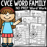 CVCe Word Family Word Work