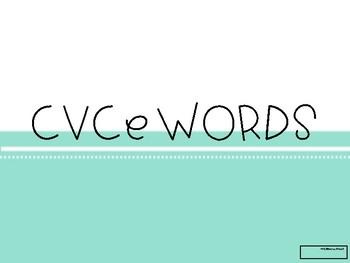 CVCe Word Flash Cards