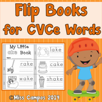 CVCe Word Flip Books - Long Vowels and Magic E