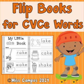 CVCe Word Flip Books - Long Vowels and Magic E