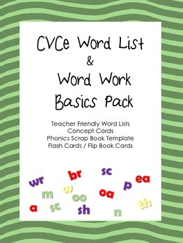 CVCe Word Lists and Word Work Activities