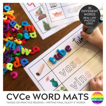 CVCe Word Mats - Final Silent 'e'
