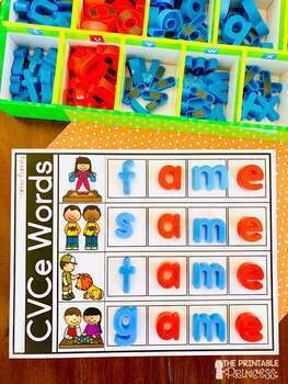 CVCe Word Mats - Magnetic Letters {Kindergarten Literacy: CVCe Words}
