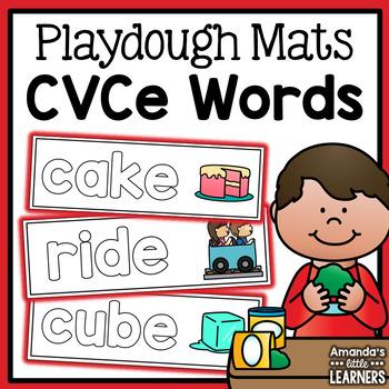 CVCe Word Playdough Mats