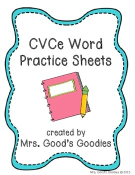 CVCe Word Practice Sheets