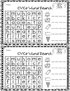 CVCe Word Search