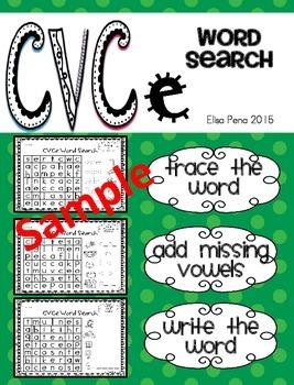 CVCe Word Search Freebie