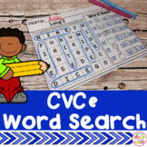 CVCe Word Search Puzzle Write and Find Activty and Worksheets