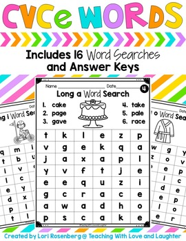 Word Searches {CVCe Words}