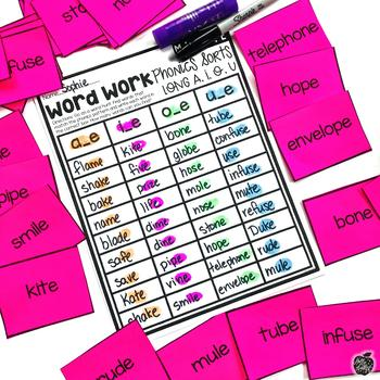 CVCe Word Sorts {Get up and MOVE!}