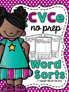 CVCe Word Sorts (NO PREP)