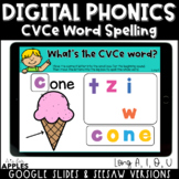 CVCe Word Spelling Digital Phonics Activities | Distance Learning